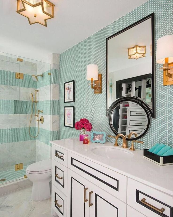 75 Best Images About Turquoise & Gold Bathroom On