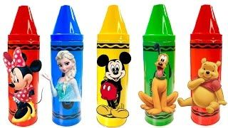 Best Learning Colors Video for Children - Disney Mickey Mouse Clubhouse Crayons - YouTube