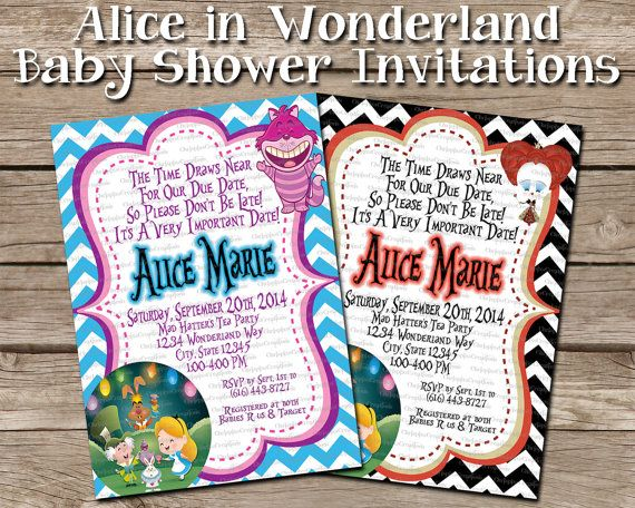 alice in wonderland baby shower invitation by chrispixscreations 10