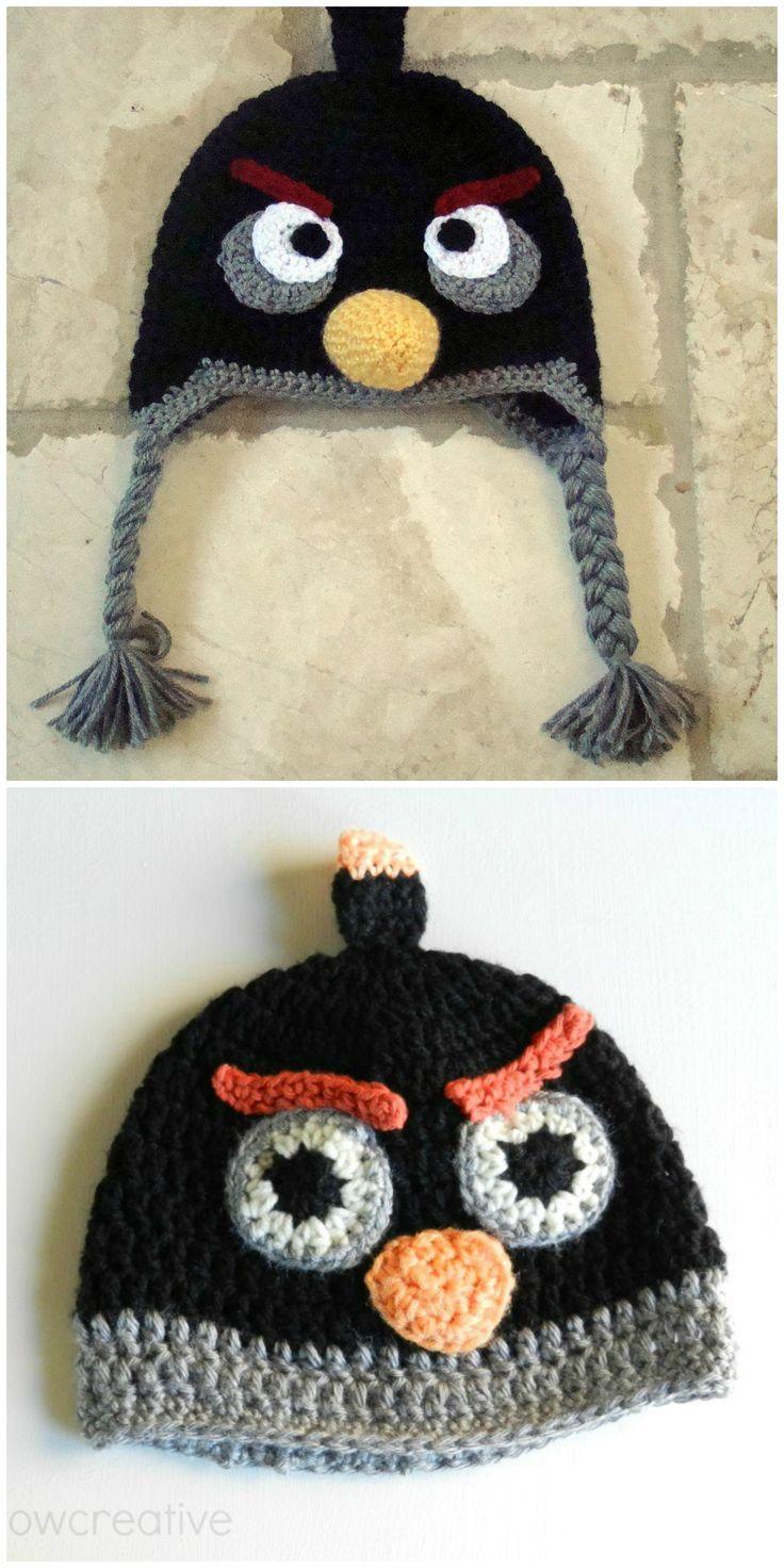DIY Black Angry Birds Hat Free Crochet