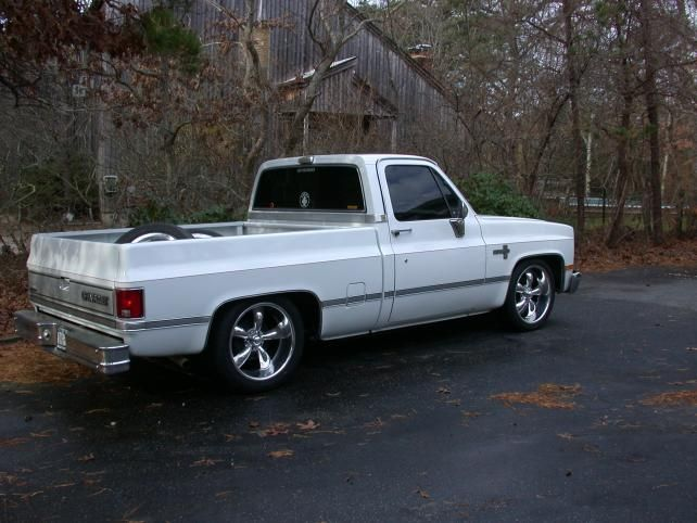 Chevy 1986 C10 Swb 5 7 Drop Wheels 20 Coys Chevy Pickup Trucks C10 Chevy Truck Chevy Pickups