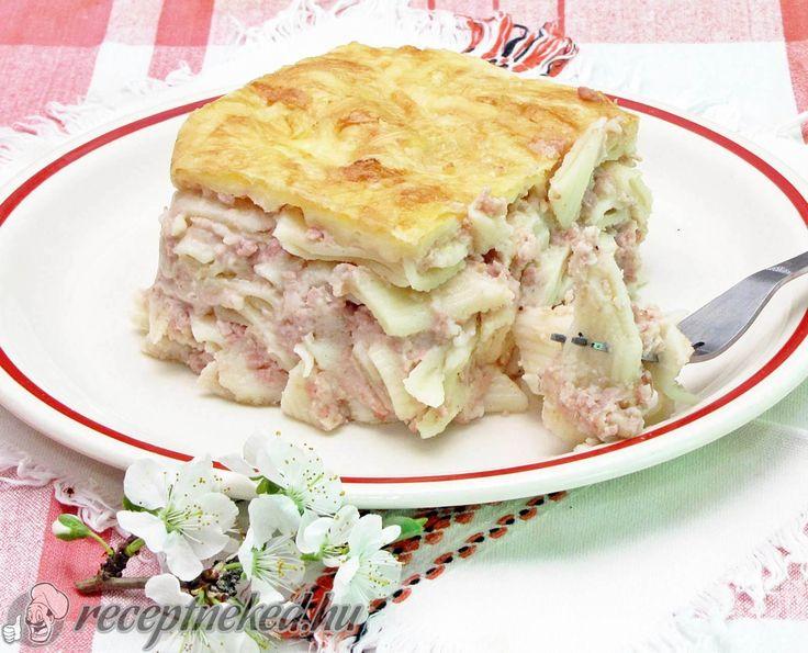 A legjobb Sonkás rakott tészta recept fotóval egyenesen a Receptneked.hu gyűjteményéből. Küldte: Gasztropajti