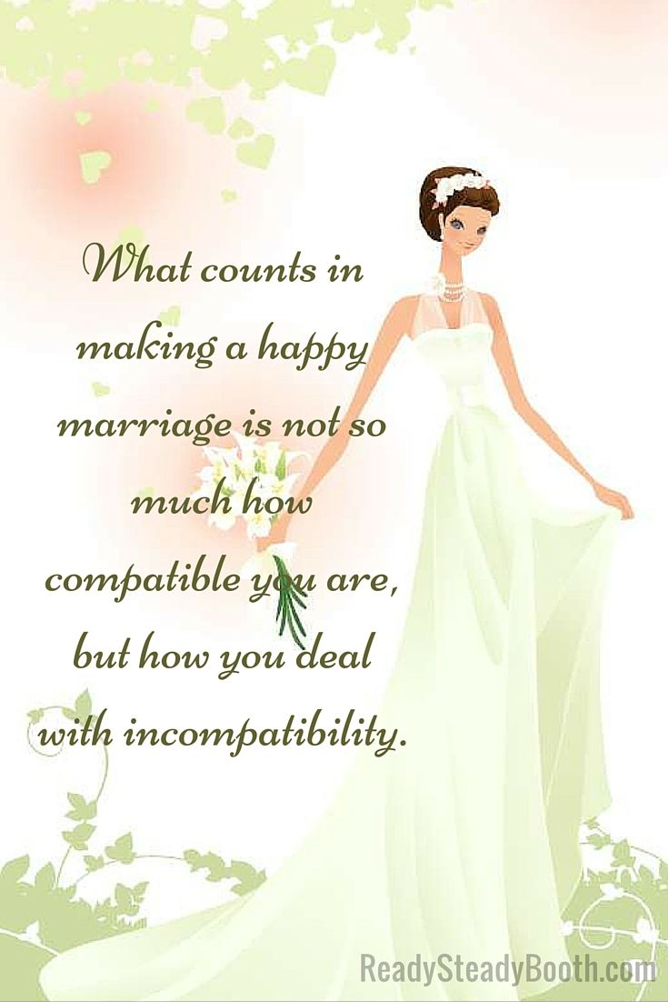 What counts in making a happy marriage is not so much how compatible you are... #Melbourne #photobooth #Australia #wedding #giveaway