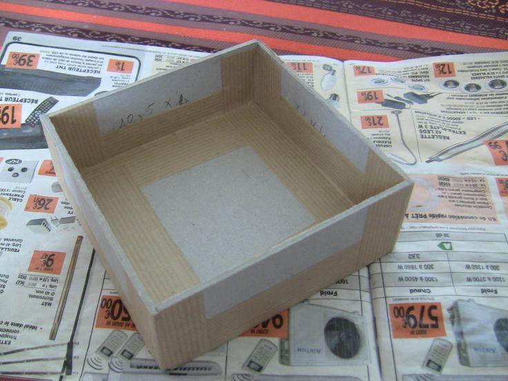 Les 330 meilleures images propos de cartonnage sur - Tuto boite en carton ...