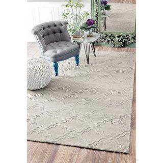 Shop for nuLOOM Handmade Modern Trellis Fancy Wool Cream Rug (9'6 x 13'6). Get free shipping at Overstock.com - Your Online Home Decor…