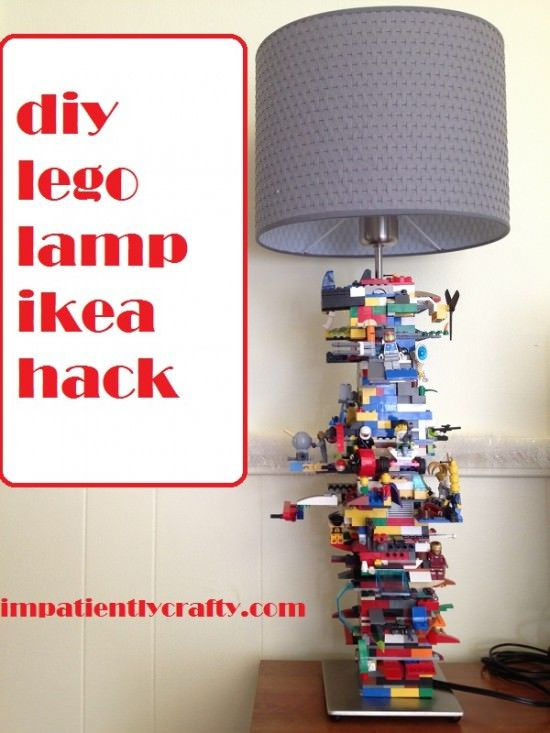 tutorial for super easy lego lamp great for a boys room and fun to make easy ikea hack_for bray - Boys Room Lego Ideas