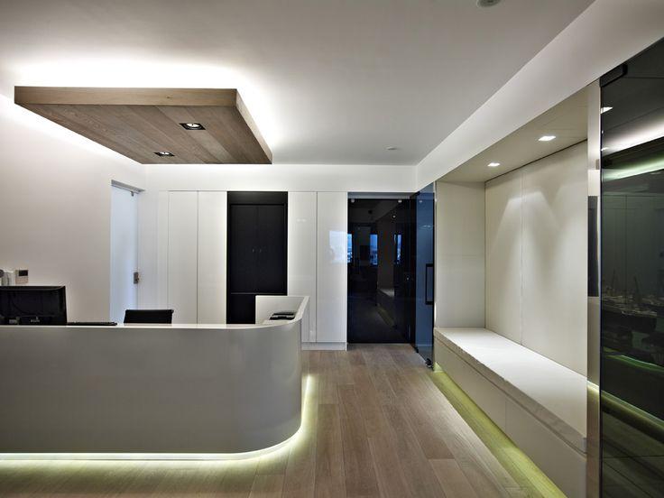 OFFICE SPACES FOR A MARITIME COMPANY #Reception #Design #Light #Detail #Architecture #Interiordesign #Piraeus #Athens #Greece #Kipseliarchitects