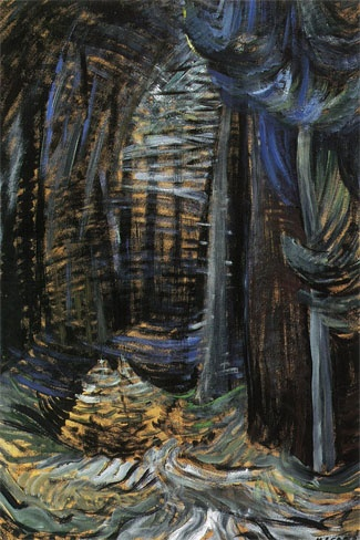 Emily Carr / FOREST, B.C. / oil on paper, laid down on board, signed