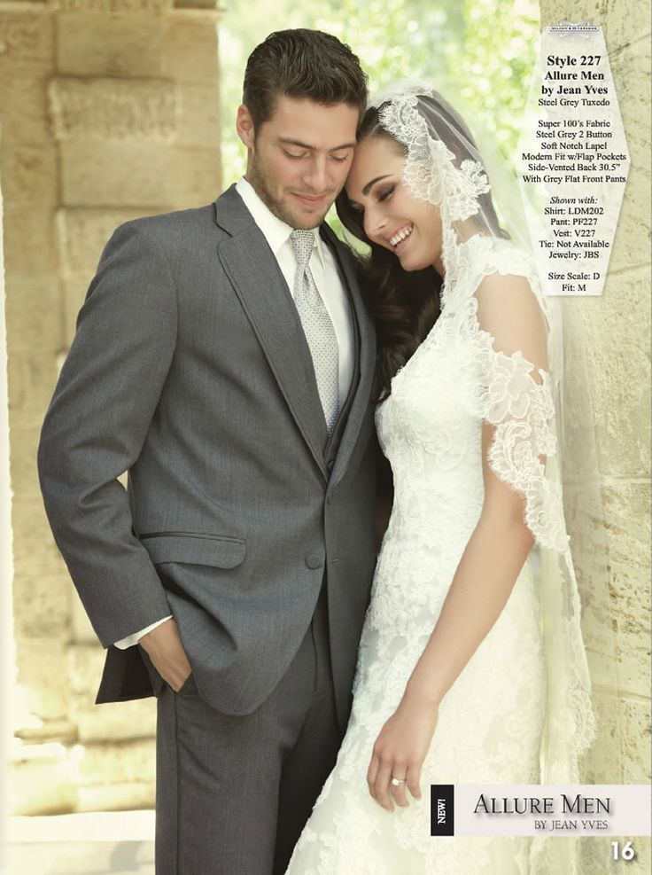 """Steel Grey Tuxedo by Jean Yves, from the """"Elite Collection""""."""
