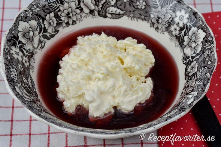 Ris à la Malta Använder Canderel / Stevia + äkta Vanilj istället för vaniljsocker.  Fun osötad hallonsaft till såsen.