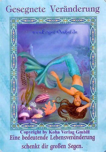 Koha Verlag Karte Ziehen.Gesegnete Veränderung Der Zauber Der Meerjungfrauen Und Delfine