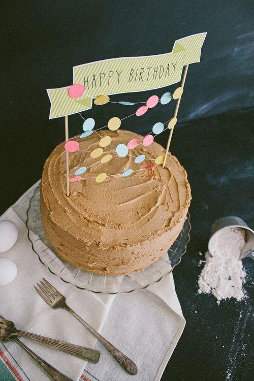 1000 Ideas About Cake Banner On Pinterest Birthdays