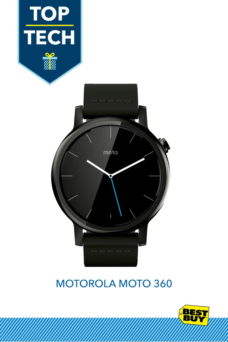 Motorola Moto 360 2nd Generation Men's Smartwatch for Most Apple® iOS and Android Mobile Phones  #GiftOfStyle