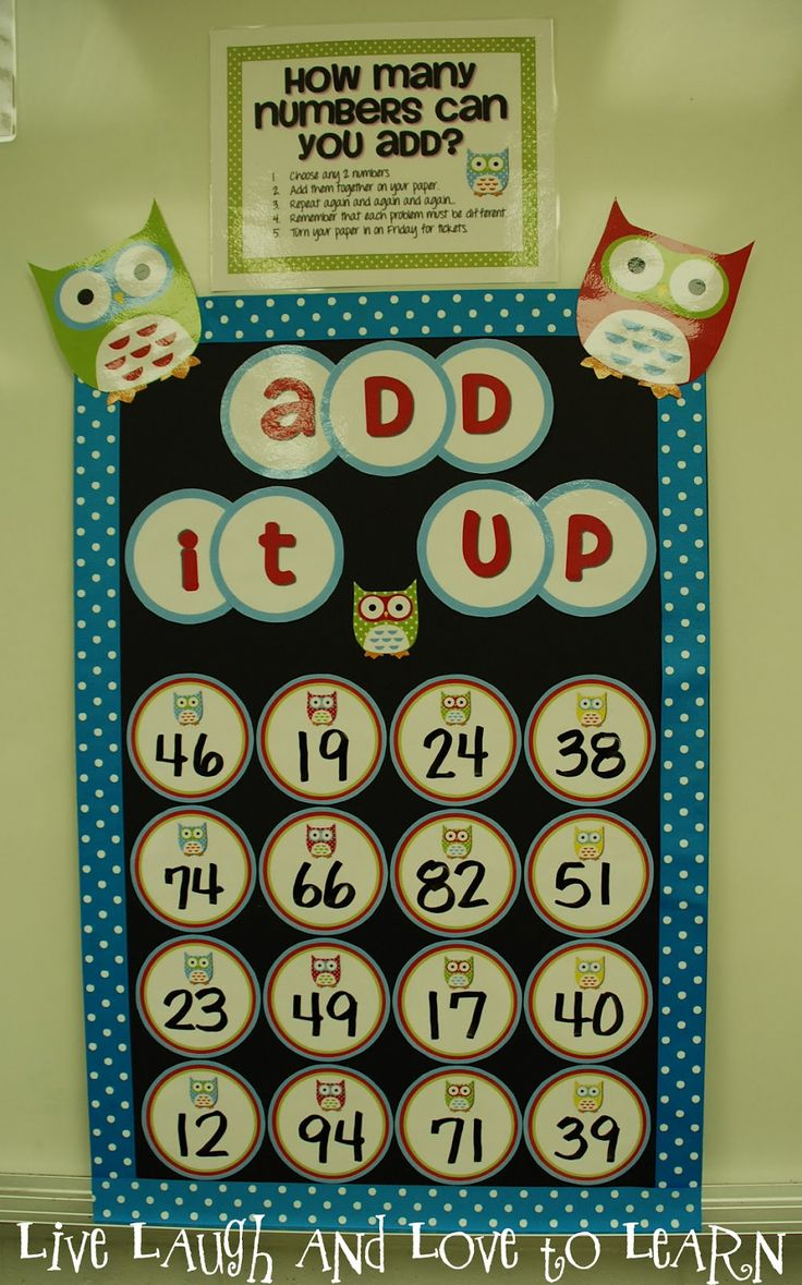 Great idea for early finishers -- could do this for any grade -- +,-,x, division! Love it!