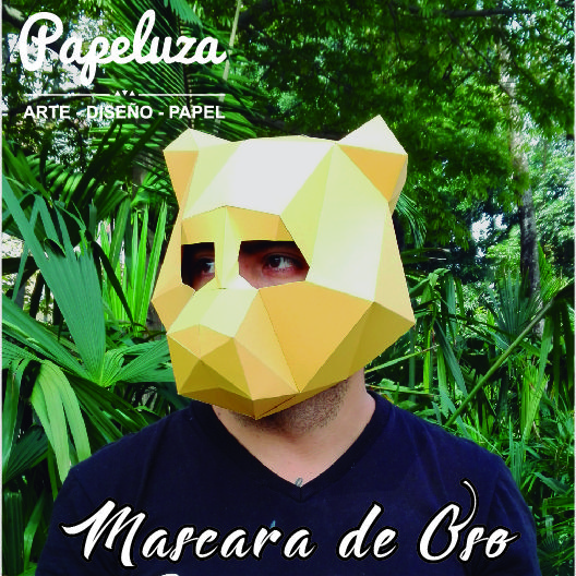 Mascara de Oso en papercraft - Bear mask