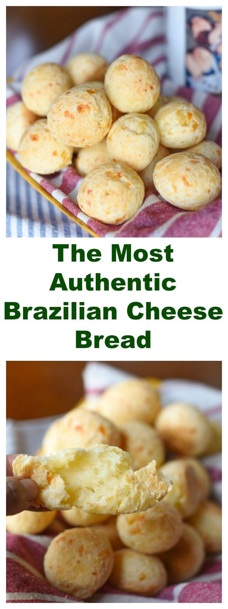 THE MOST AUTHENTIC BRAZILIAN CHEESE BREAD (PÃO-DE-QUEIJO). It's naturally gluten free!!