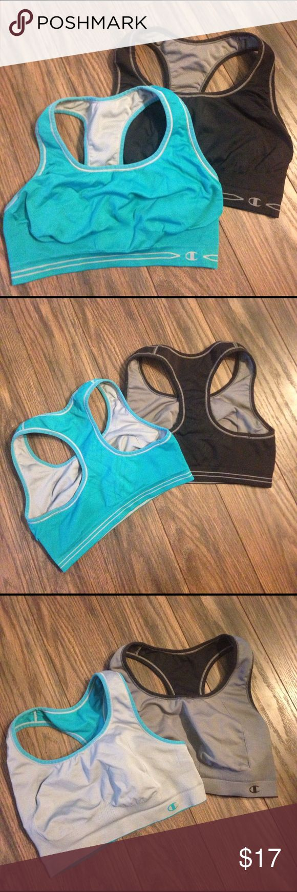 2 reversible champion sports bras 2 sports bras, both reversible. Great condition, barely worn, still super stretchy. No inside tags but they are a large Champion Intimates & Sleepwear Bras
