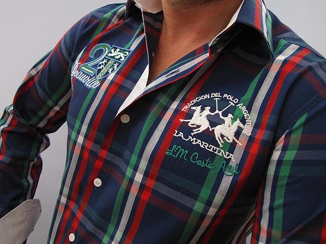 La Martina Men's Plaid Shirt NAVY