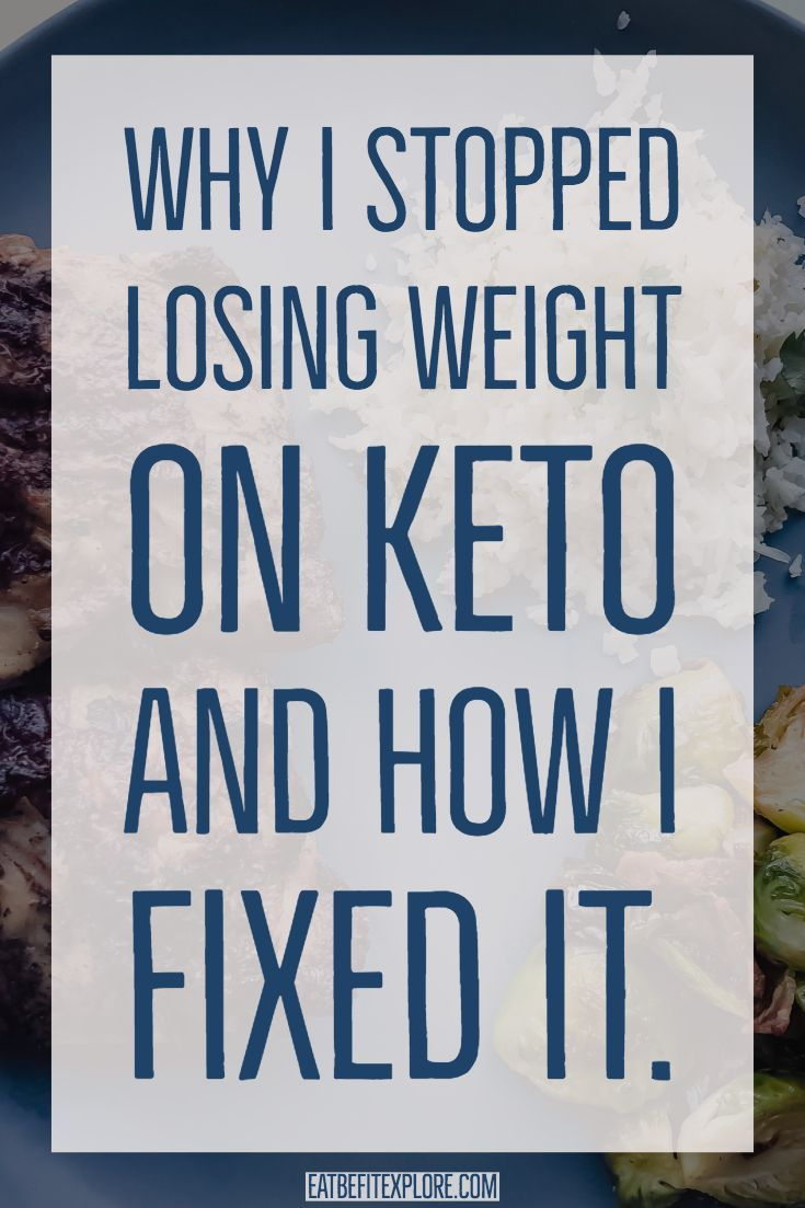How to stop losing weight on keto diet