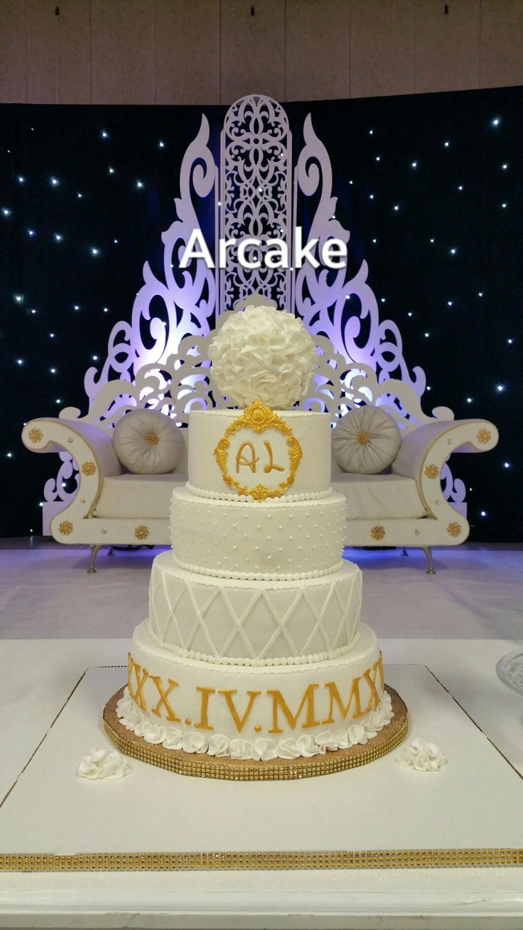 Gâteau de mariage oriental