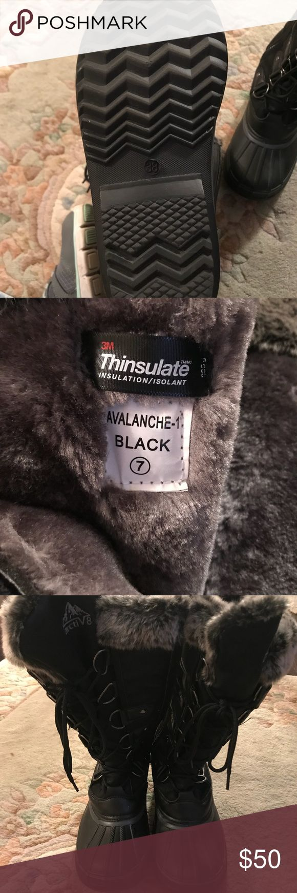 Black Thinsulate Boot Black Thinsulate Boot. Women's size 7. NWOT. Water proof bottom. Fur lined. Just in time for winter and Christmas! thinsulate Shoes Winter & Rain Boots