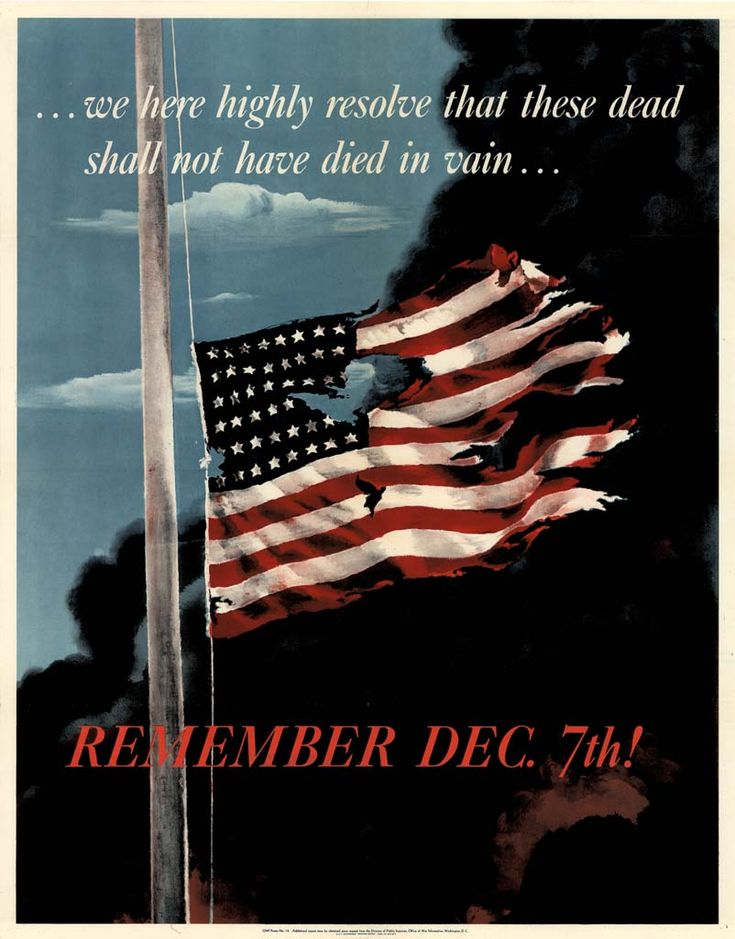 a poster of the day Japan bombed Pearl Harbour.