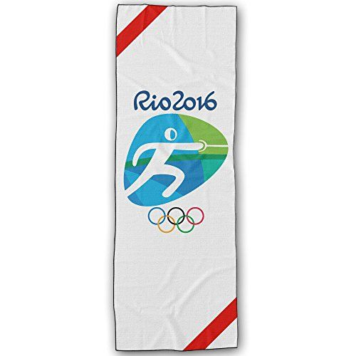 WuliNN Fencing Logo Rio Olympics 2016 Super Absorbent Microfiber Non Slip Yoga Towel Hot Yoga Towel 72  24 Inch *** To view further for this item, visit the image link.(This is an Amazon affiliate link and I receive a commission for the sales)
