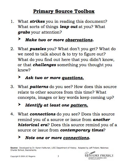 primary source essay example If you have found a primary source in an archive or online, there may be a short summary of the document set if you are reading a primary source that your teacher or professor gave you, there may be a paragraph of introductory material if there is no introductory material at all, pay close attention to the title, author, and date.