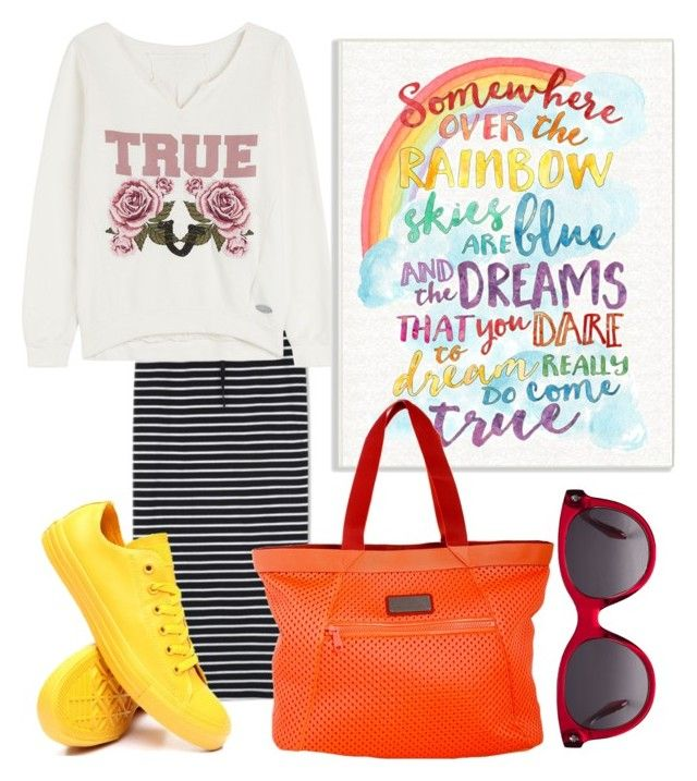 """""""Untitled #102"""" by nenglita on Polyvore featuring WithChic, True Religion, Converse, Stupell, adidas and Alexander McQueen"""