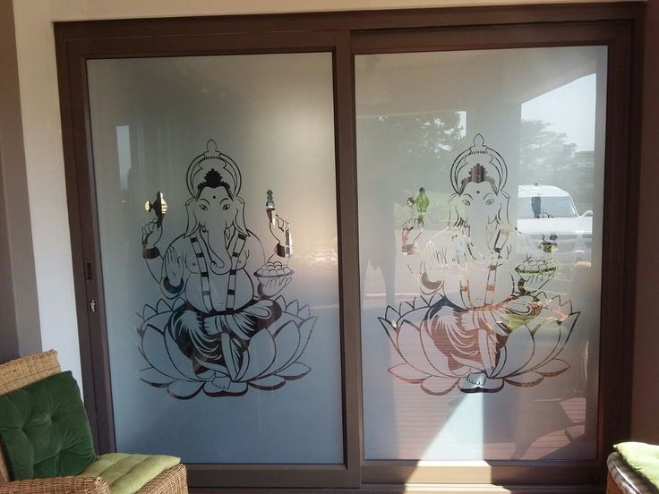 Door Glass Art by Pro Tinting & Wallpapers using LG Hausys Sandblast http://ow.ly/1WZP30fTL7G #Sandblast #Tinting #Wallpapers