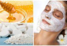 De l'aspirine et du miel pour la beauté de votre visage