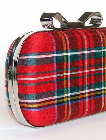 Love this dressy clutch in Stewart Tartan