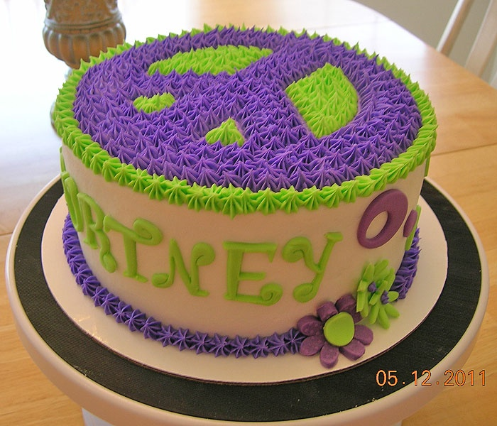 Image Detail for - cakes by crystal for my daughter s 9th birthday party the peace sign ...