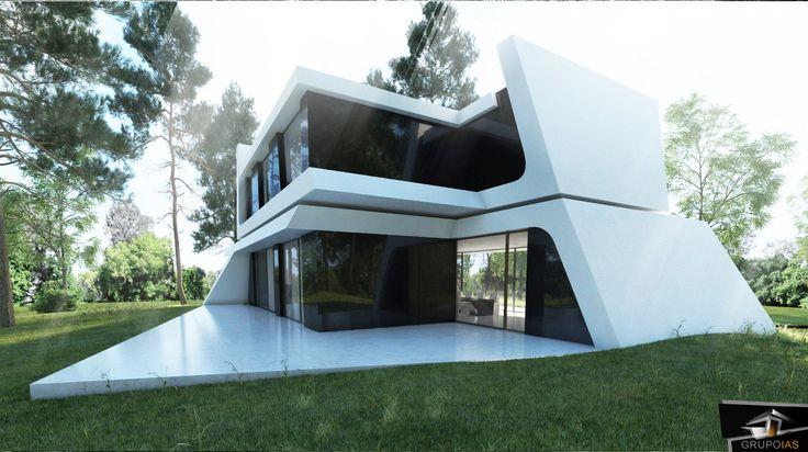 Diseño de vivienda moderna  http://grupoias.es/blog/diseno-de-viviendas/construccion-de-vivienda-unifamiliar-en-la-sierra-de-madrid/