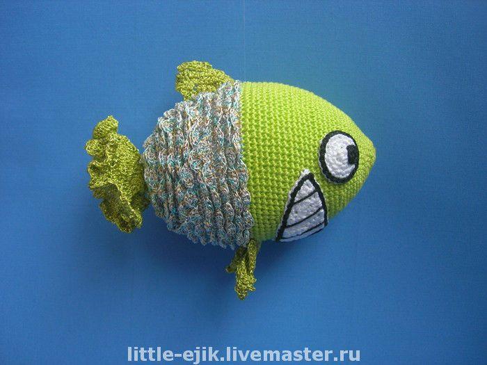 Купить Улыбчивая Рыба - рыба, игрушки, вязаные игрушки, Авторские игрушки…