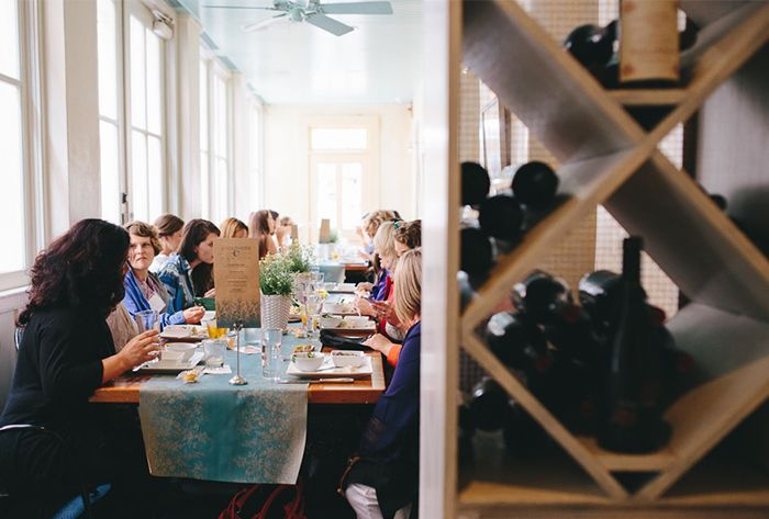 Luncheons at Fish Restaurant in Charleston, South Carolina are a great way to celebrate the holidays with your work team | Photo by Nickie Cutrona