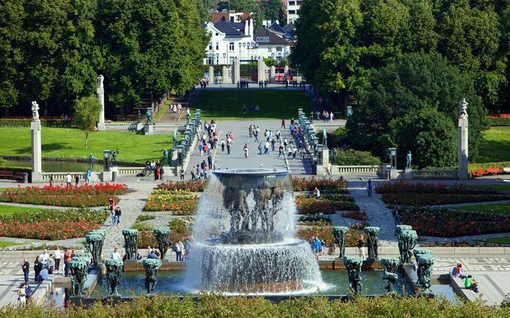Норвешка, Осло, Вигеланд Парк скулптуре Густава Вигеланд, Тхе Фоунтаин