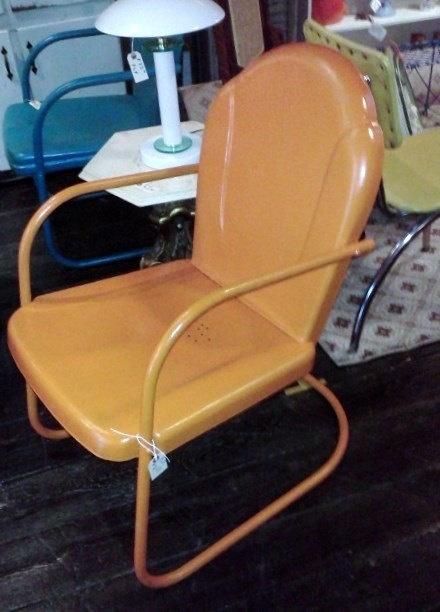 Metal Chair Porch Lawn Retro Mid Century