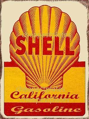 Vintage Motor Oil Car Shell Oil Advertising New Metal Signs not Enamel Freep P   eBay