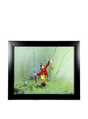 63% OFF Walt Disney Studios Framed Goofy the Fisherman Ltd. Edition Serigraph Cel