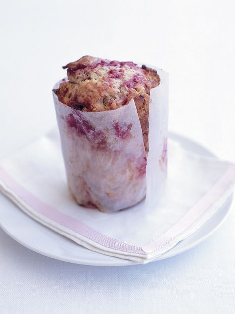 raspberry and white chocolate muffins from donna hay