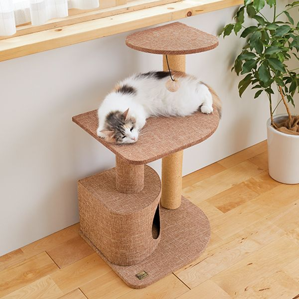 楽天市場 窓辺でお昼寝タワー Peppy ペピイ 楽天市場店 お昼寝 インテリア シンプル 猫部屋