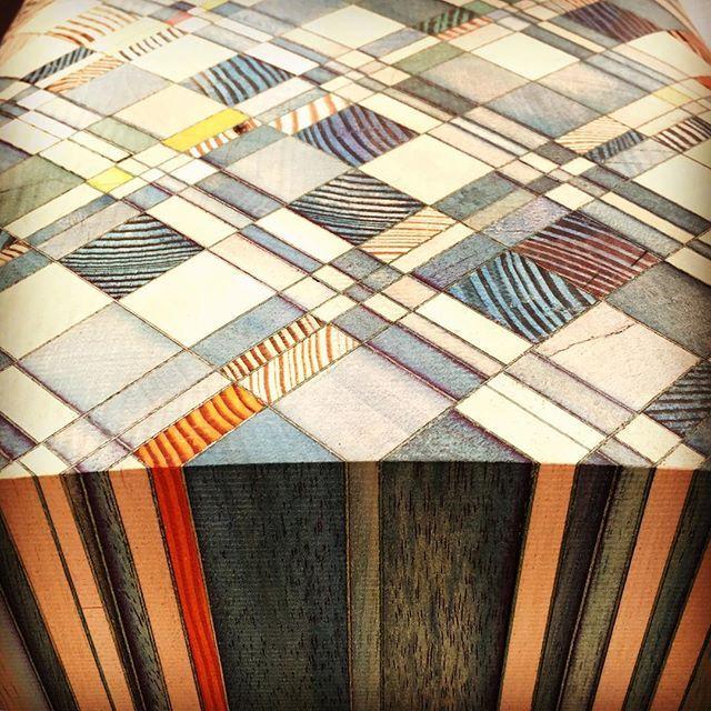 #yaelmer #shayalkalay #decorex2015 #corinnejulius #futureheritage endgrain bench #wood #rawedges @decorex_international @rawedgesdesignstudio