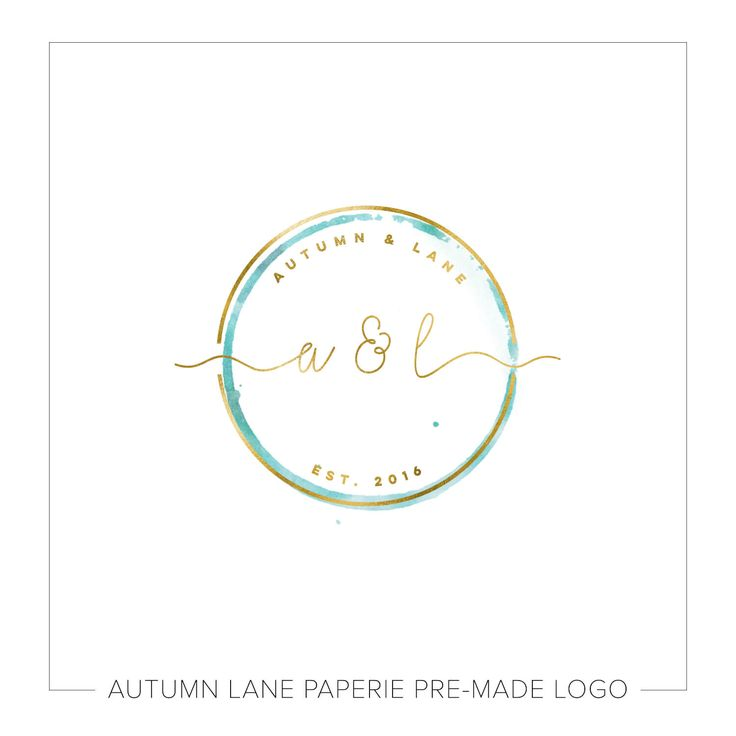 Autumn Lane Paperie Circular Wedding Initials Logo
