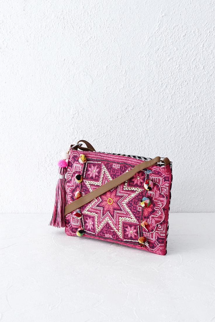 STAR EMBROIDERED CROSS-BODY £28.00