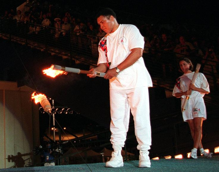 olympics rio 2016 torch relay | Muhammad Ali lights the Olympic flame at the Atlanta Summer Games on ...