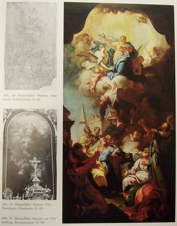 22. Michelangelo Unterberger: Nanebevzetí Panny Marie, Postoloprty