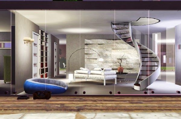 sims3 House my Gallery LIVING DESIGN MODERN HOUSE WHITE SPACE