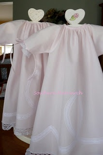 Southern Matriarch: Wee Care gowns love the garment stands too