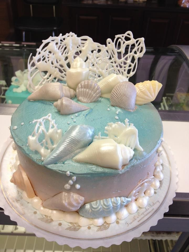 Under The Sea Birthday Cake White Chocolate Drizzeled